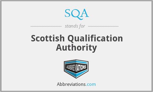 SQA - Scottish Qualification Authority