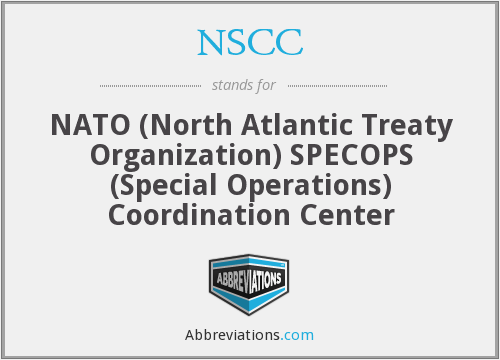 NSCC - NATO (North Atlantic Treaty Organization) SPECOPS (Special Operations) Coordination Center