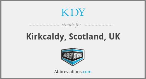 KDY - Kirkcaldy, Scotland, UK