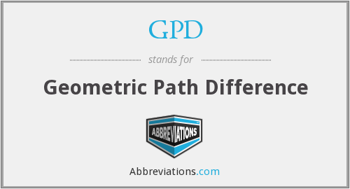 GPD - Geometric Path Difference