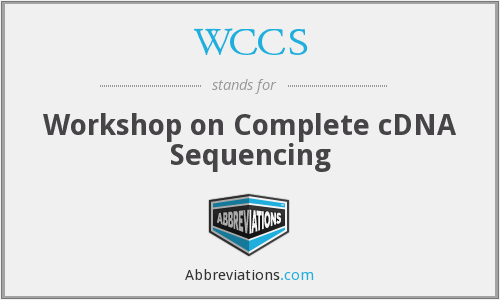 WCCS - Workshop on Complete cDNA Sequencing