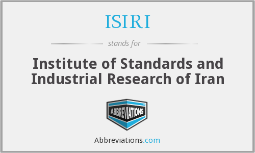 ISIRI - Institute of Standards and Industrial Research of Iran