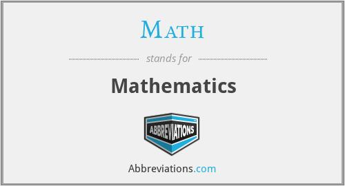Math - Mathematics