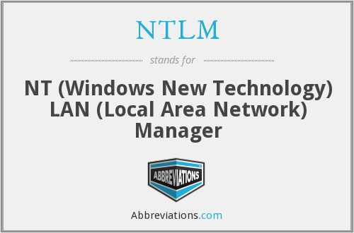 What does NTLM stand for?