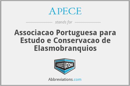 APECE - Associacao Portuguesa para Estudo e Conservacao de Elasmobranquios