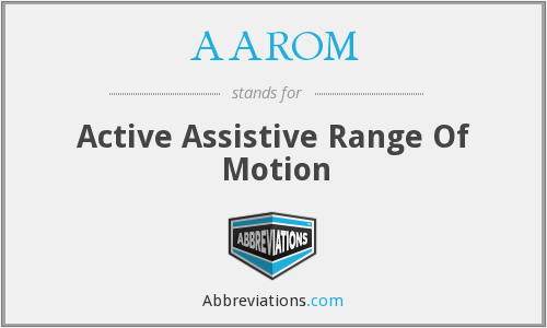 AAROM - Active Assistive Range Of Motion