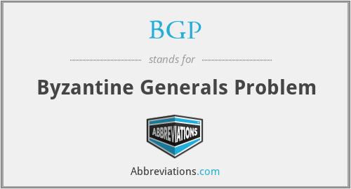 BGP - Byzantine Generals Problem
