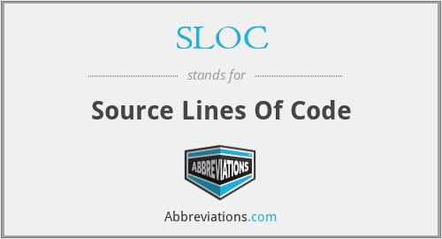 SLOC - Source Lines Of Code