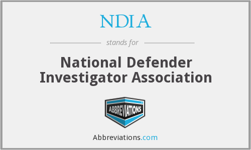 NDIA - National Defender Investigator Association