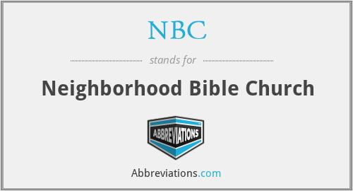 NBC - Neighborhood Bible Church