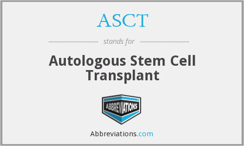 What does ASCT stand for?