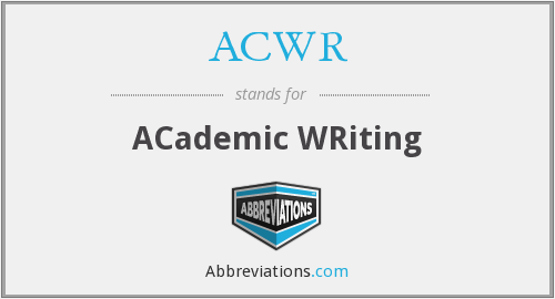 ACWR - ACademic WRiting