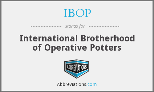 IBOP - International Brotherhood of Operative Potters