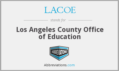 What does LACOE stand for?