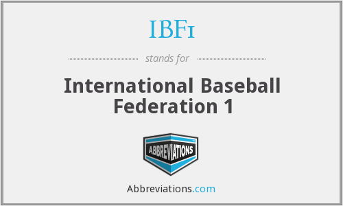 IBF1 - International Baseball Federation 1
