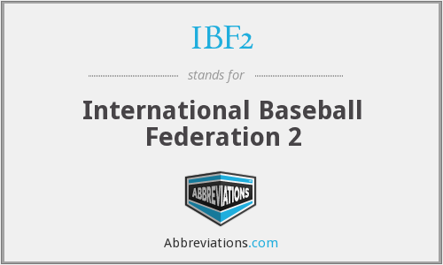 IBF2 - International Baseball Federation 2