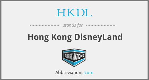 HKDL - Hong Kong DisneyLand