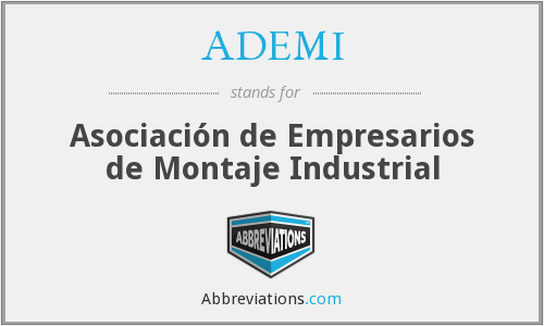 What does ADEMI stand for?