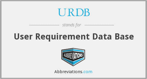 URDB - User Requirement Data Base
