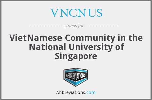VNCNUS - VietNamese Community in the National University of Singapore