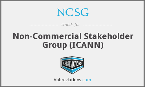 NCSG - Non-Commercial Stakeholder Group (ICANN)