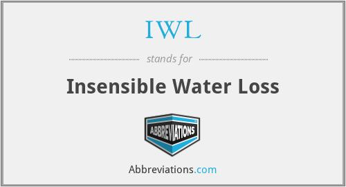 IWL - Insensible Water Loss