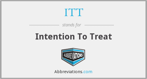 ITT - Intention To Treat
