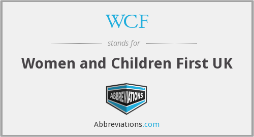 WCF - Women and Children First UK