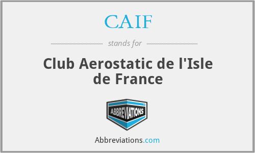CAIF - Club Aerostatic de l'Isle de France