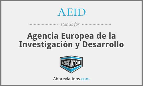 AEID - Agencia Europea de la Investigación y Desarrollo