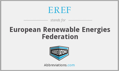 EREF - European Renewable Energies Federation