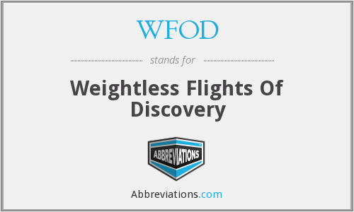 WFOD - Weightless Flights Of Discovery