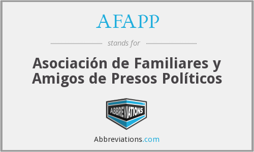AFAPP - Asociación de Familiares y Amigos de Presos Políticos