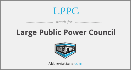 LPPC - Large Public Power Council