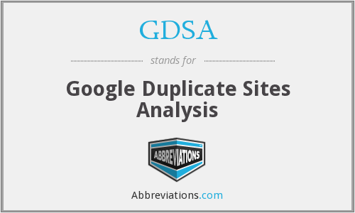 GDSA - Google Duplicate Sites Analysis