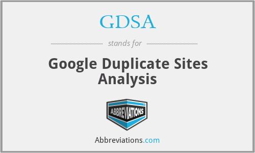 GDSA - Google Duplicate Sites Analysis