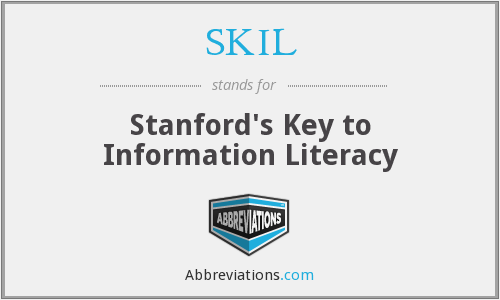 SKIL - Stanford's Key to Information Literacy