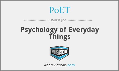 PoET - Psychology of Everyday Things