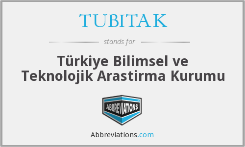What does TÜBITAK stand for?