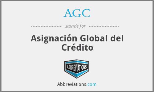 AGC - Asignación Global del Crédito