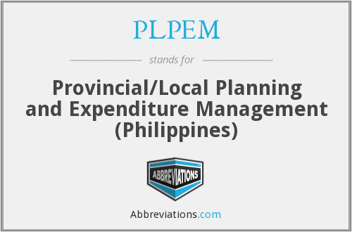 PLPEM - Provincial/Local Planning and Expenditure Management (Philippines)