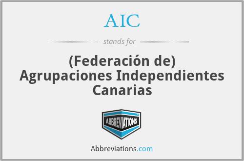 AIC - (Federación de) Agrupaciones Independientes Canarias