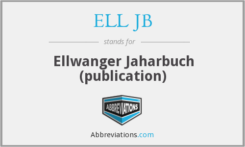 What does ELL JB stand for?