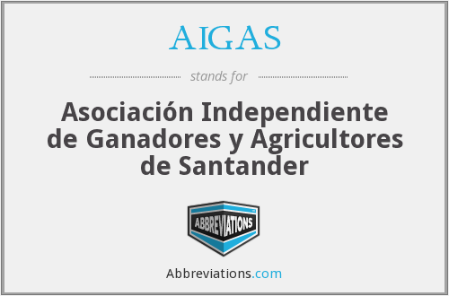 What does AIGAS stand for?
