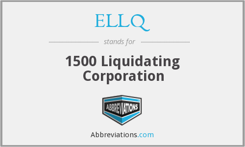 What does ELLQ stand for?