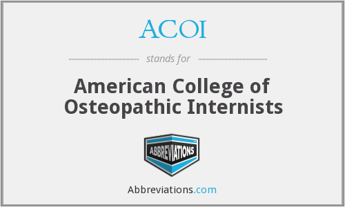 ACOI - American College of Osteopathic Internists