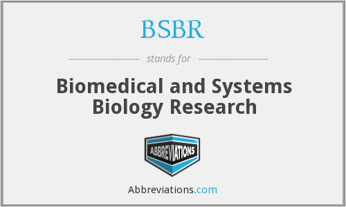 BSBR - Biomedical and Systems Biology Research