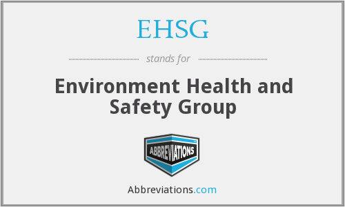 EHSG - Environment Health and Safety Group