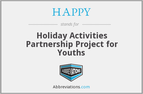 HAPPY - Holiday Activities Partnership Project for Youths