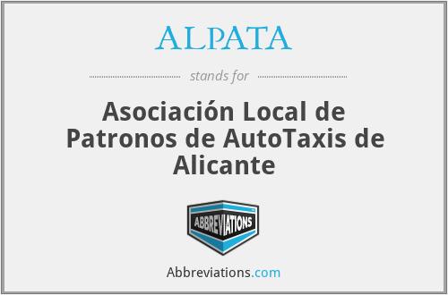 ALPATA - Asociación Local de Patronos de AutoTaxis de Alicante